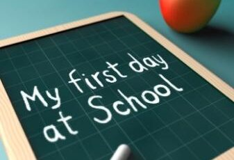 Our first day in school 2nd Sept 2020